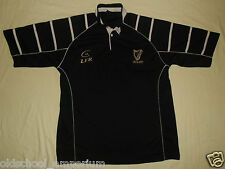 IRELAND / Live For Rugby - MENS black / gold RUGBY Shirt / Jersey. Size: L
