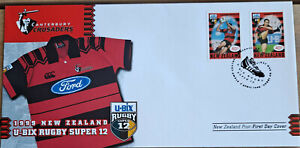 New Zealand 1999 U-Bix Rugby Super 12's - First Day Covers. (5 FDC's).