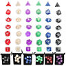 42pcs Double-Color Polyhedral Dice Dungeons & Dragons Games D4-D20 Set & 6 Bags
