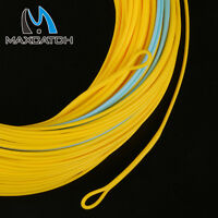 Spey Fly Line WF7/8/9/10/11F Fishing Floating Yellow & Blue 125' 2 Welded Loops