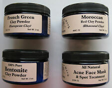 French Green Clay Powder - 3 oz. Tub - 100% Pure - The Elder Herb Shoppe