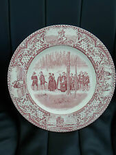 "Colonial Times Crown Ducal Plate ""Going to Church"" Retro Plate Ideal for Display"
