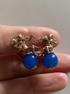 Sterling Silver Earrings Cherub Silver 925 Earrings Clips Angels Cherubs