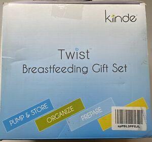 Kiinde Twist Breastfeeding Gift Set- New Open Box- MISSING (2) Nipple Brushes