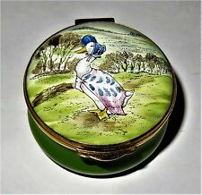 CRUMMLES ENGLISH ENAMEL BOX - BEATRIX POTTER - JEMIMA PUDDLE-DUCK & THE FOX