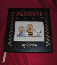 Peanuts 2000 By Charles M. Schulz Leather Bound Easton Press w/Ad Sheet