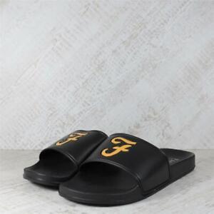 Mens Farah Wave Slides Black/Gold (PEF2) RRP £29.99
