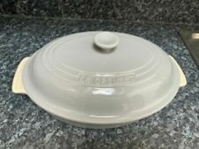LE Creuset Oval Stoneware Casserole Dish with Lid -30cm ( Light Grey )