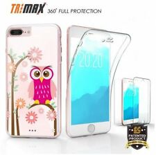 Apple IPHONE 7 PLUS DAISY OWL Cell Phone Case Slim 360 Tri Max Flexible Clear