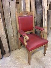 Oak Reproduction Antique Armchairs