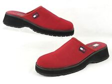 Tommy Hilfiger Womens Red Mesh Slip On Clog Chunky Mule Size 8 M # W20548