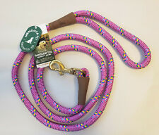 Braided Snap Leash/Lead by Mendota 6' Long Raspberry Confetti