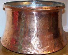 """14""""x10"""" (35cm x 25cm) Handhammered Antique Turkish Copper Boiler Planter"""