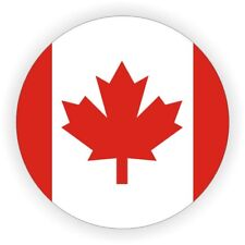 Canadian Flag Hard Hat Sticker / Safety Motorcycle Helmet Decal CAF Canada / CAN
