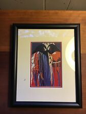 DOLONA ROBERTS Two Pueblo Women with Blankets Robes Colorful Small Framed