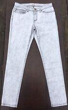 Eileen Fisher Nearly New Gray Acid Wash Slim Skinny Organic Cotton Jeans Size 12