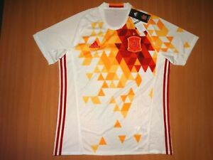 RARE MINT NEW SPAIN  shirt L camiseta AWAY Soccer Football 2016 2017