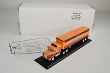 # MATCHBOX CCY05-M MACK TRUCK WITH TRAILER HONEY BROWN ORANGE MINT BOXED