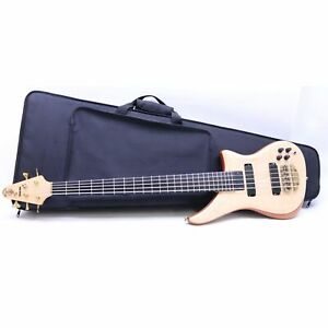 Alembic WLSB-5 5-String Right-Handed Electric Bass Guitar - Natural / Brown