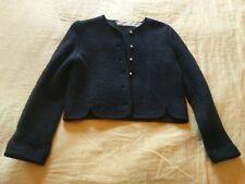 "VINTAGE ""Eagle's Eye"" Boiled Wool Button Cardigan Jacket Size 10 (M-L) VGVC"