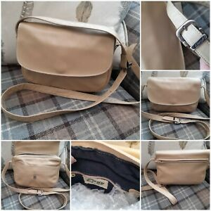 ENNY Shoulder Bag - Nude Beige Smooth Italian Leather