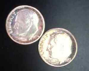 1954 and 1955 Proof Roosevelt Dimes