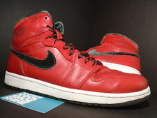 08 Nike Air Jordan I Retro 1 Hi Premier TORO RED SUEDE DARK ARMY WHITE BLACK