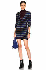 SUMMER SALE! NEW $350 T Alexander Wang Merino Stripe Button Sweater Dress S