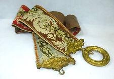 Unico! Rari Pull bell a 1830 In ottone dorato Arazzo - Ricamo Aquila