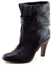 Frye Fashion Boots Mid-Calf Black Leather Women Sz 10