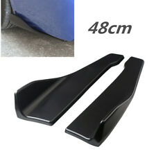 Black Pair 48cm Car Body Side Skirt Rocker Splitters Shovel Anti-Scratch Winglet