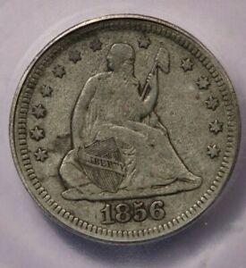 1856-P 1856 Seated Liberty Quarter ICG F15
