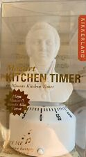 Kikkerland Mozart Bust Kitchen Timer - Plays Rondo Alla Turca at Timer End