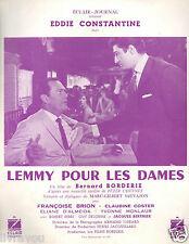 ▬►1962 Synopsis LEMMY POUR LES DAMES Eddie Constantine_Françoise Brion