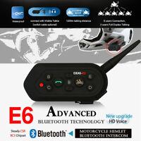 EJEAS E6 Helmet Bluetooth Intercom 6 Riders 1200m Motorcycle Wireless Headset