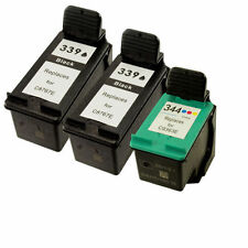 2 HP 339 C8767EE Black+1 HP 344 C9363EE Colour Reman Ink Cart HP PSC 2600 Series