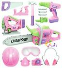 Kids Tool Set with Electric Toy Drill Chainsaw Jigsaw Toy Tools for Girl,