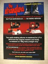 THE STRANGLERS A5 ad flyer for re-issued albums RATTUS & NO MORE HEROES in 2015.