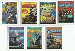 2021 Mandalorian Season 2 complete Comic Covers insert set 7 cards Star Wars