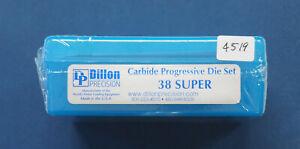 Dillon 9mm/ 38ACP/Super-(CARBIDE) 3-Die Set-(14399)-NEW