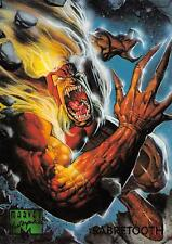 SABRETOOTH / 1995 Marvel Masterpieces (Fleer) Base Trading Card #85