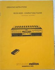 Mint Original instruction for Studier REVOX B 225 CD PLAYER