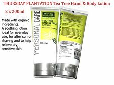2 x 200ml THURSDAY PLANTATION Tea Tree Hand & Body Lotion