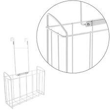 Over The Door Hook Storage Organizer Basket Bathroom Coat Towel Storage Bin