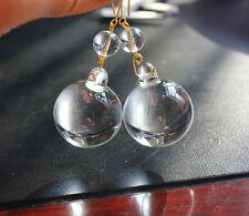 2 LOT VTG CRYSTAL CHANDELIER PART 30MM GLASS SPHERE BALL PENDANT X'MAS ORNAMENTS