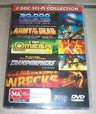 5 Disc Sci-Fi - I am Omega, Army of the Dead - NEW / SEALED - ALL PAL
