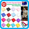 Mens Hanky Pocket Hankerchief for Wedding Bridal Solid Colour Korean Silk Tie