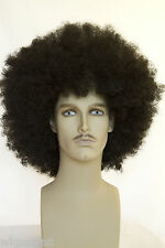 Ash Black Brunette Long Curly Fun Color Men's Wig Wigs