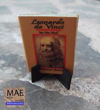 Leonardo Da Vinci. Universal Genius. 1/12 scale. MAE Mini World, mini book.