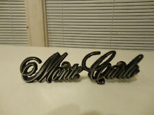 1980 Chevrolet Monte Carlo Metal Grill Emblem Insignia Name Plate Pt # 14003787